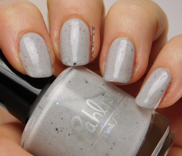 Pahlish white grey flakie mystery | Be Happy And Buy Polish