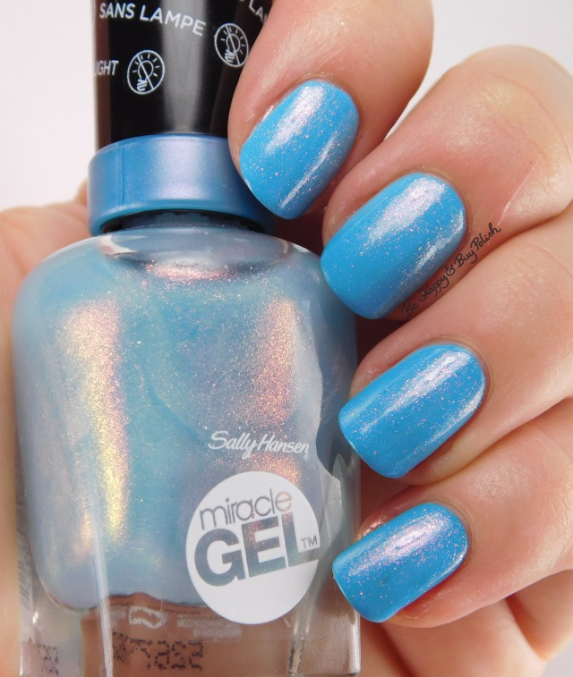 Sally Hansen Miracle Gel Digi-Teal over Let's Get Digital | Be Happy And Buy Polish