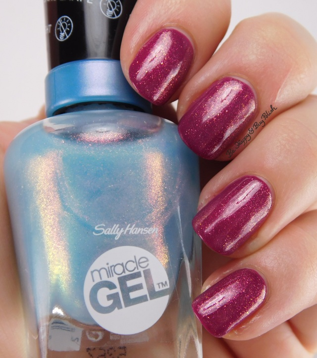 Sally Hansen Miracle Gel Digi-Teal over Motley Hue | Be Happy And Buy Polish