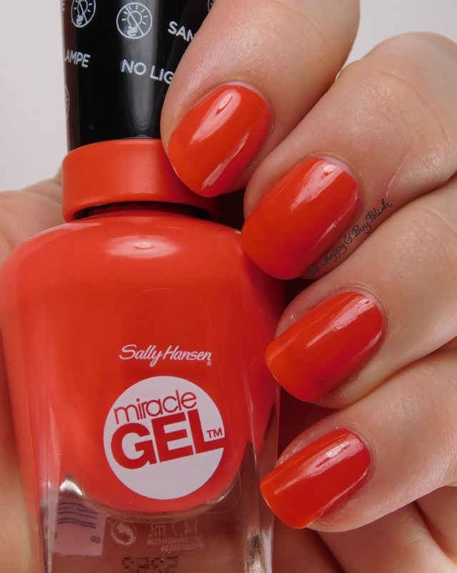 Sally Hansen Miracle Gel World Wide Red | Be Happy And Buy Polish