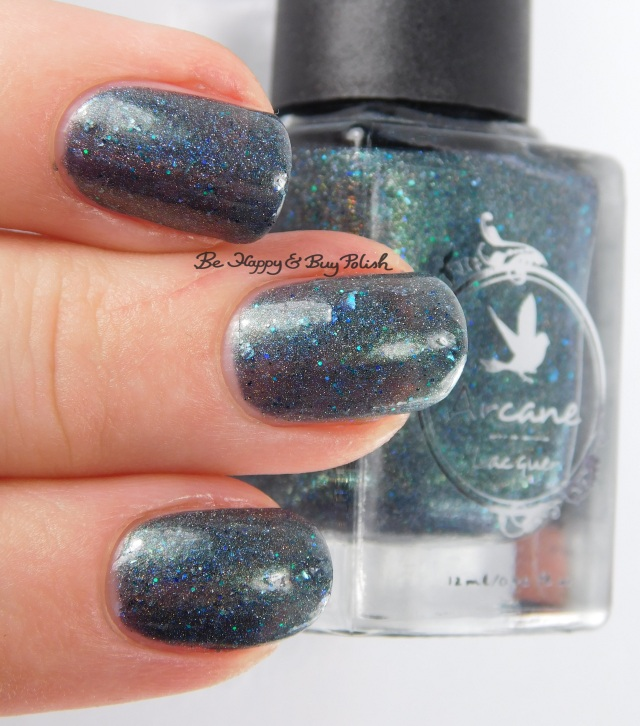 Arcane Lacquer Circles, Cycles & Seasons 3-finger pose | Be Happy And Buy Polish