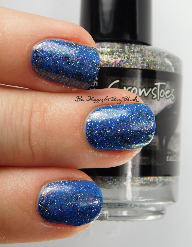CrowsToes Nail Color Abracadabra over Pretty Serious Cosmetics Type 40 3-finger pose | Be Happy And Buy Polish