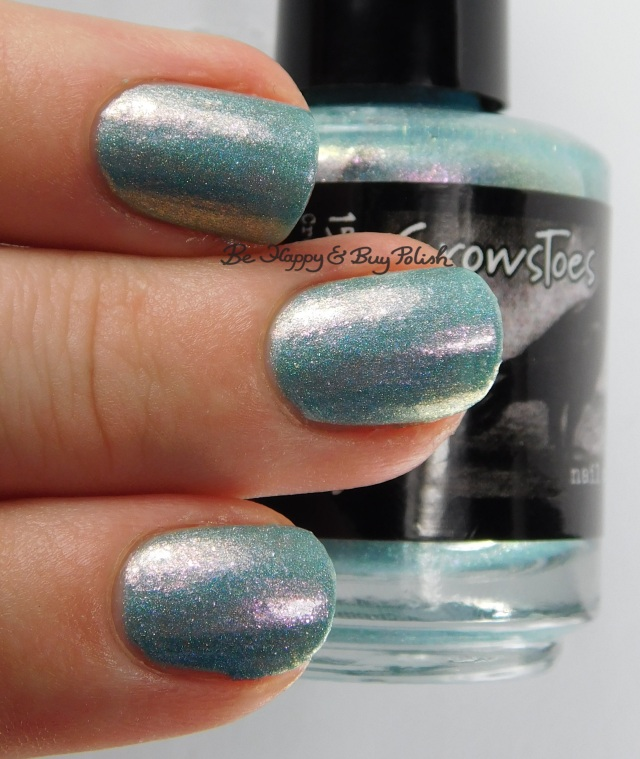 CrowsToes Nail Color Mintally Unstable 3-finger pose | Be Happy And Buy Polish