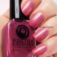 Doctor Lacquer Betelgeuse + Apatite swatches + review