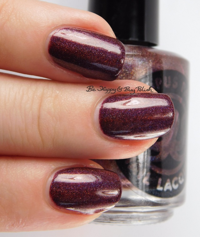 Octopus Party Nail Lacquer EVIL LIVE! 3-finger pose | Be Happy And Buy Polish