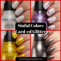 SinfulColors Card-ed Glitter nail polish collection