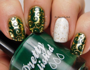 St. Patrick's Day mani swirls | Be Happy And Buy Polish