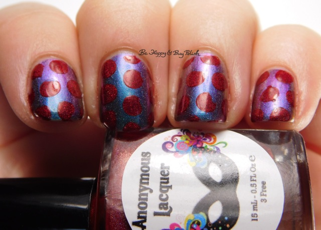 Sweet Lacquer Nail Vinyls medium dots, Anonymous Lacquer Wrath, Enchanted Polish Magical Mystery Tour | Be Happy And Buy Polish