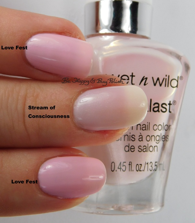 Wet N Wild Megalast  Love Fest compared to Stream of Consciousness | Be Happy And Buy Polish
