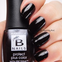 Barielle Protect + Color Prosina Cherish and Black Rose nail polishes swatch + review