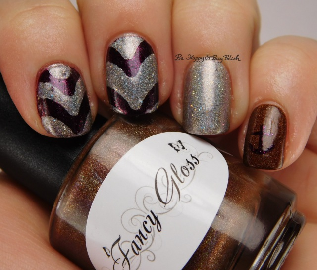 Fancy Gloss Dark Chocolate holo, Emily de Molly Cracks in the Walls, Wet n Wild Ferguson Crest Syrah | Be Happy And Buy Polish