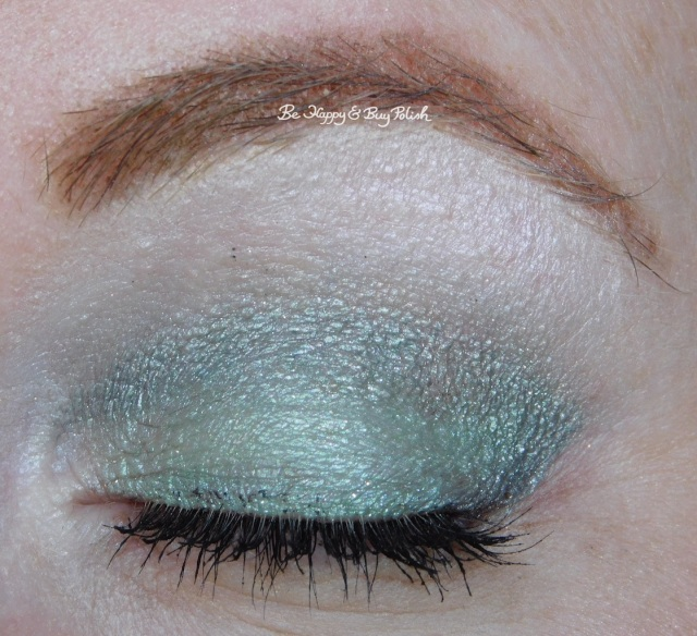 Glamour Doll Eyes It's So Fluffy, Bella Donna Remix, Rocket eyeshadows eye closed closeup | Be Happy And Buy Polish