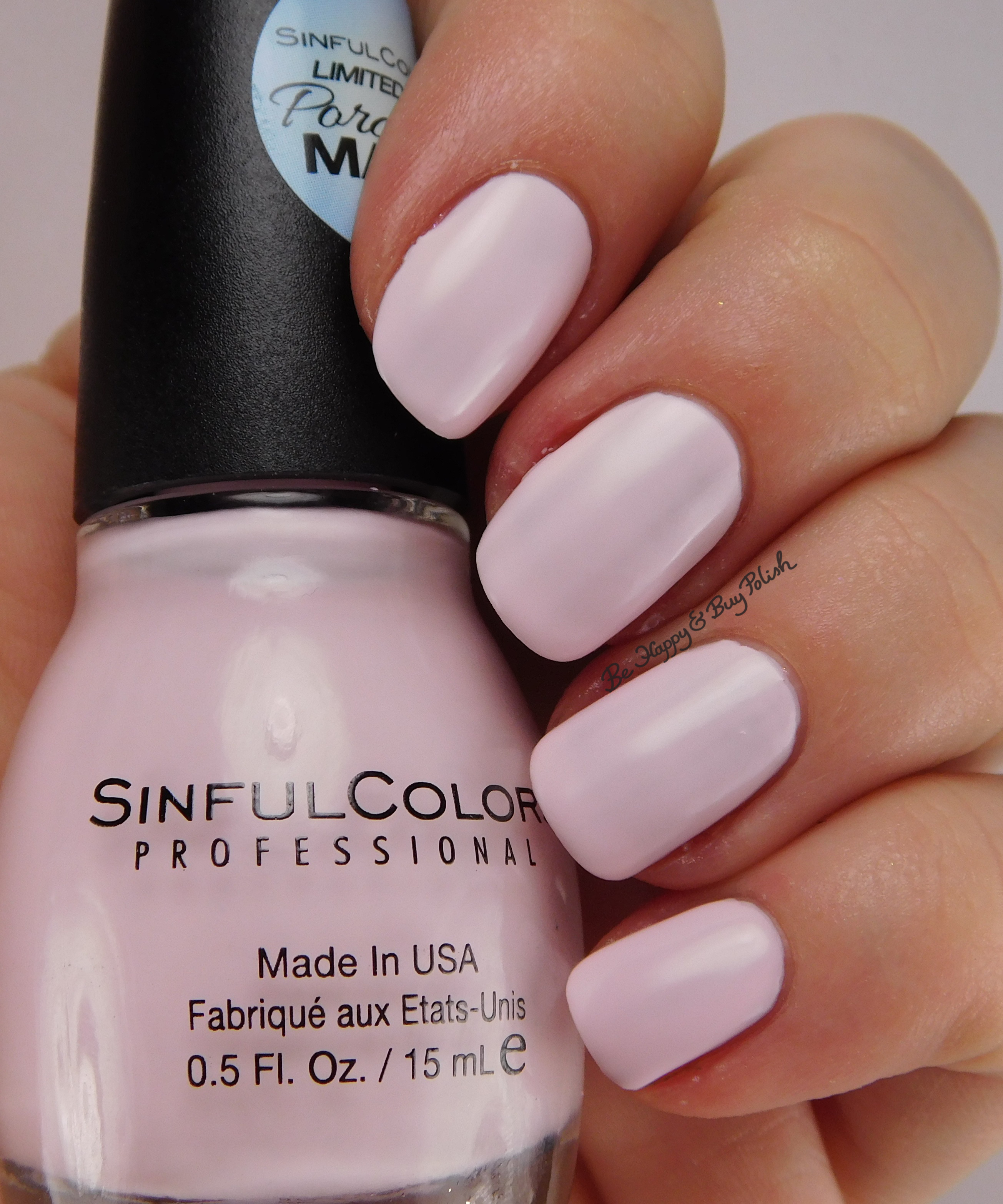 Nail Colors: SinfulColors Porcelain Matte Nail Polish Collection