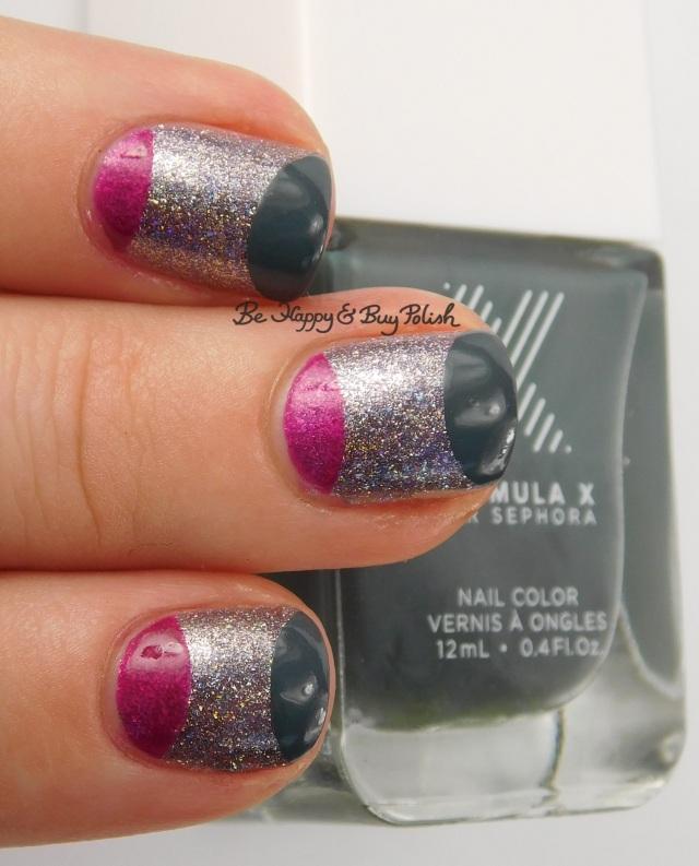 Formula X Massive, Phenomena, Aphrodite half moon nail art | Be Happy And Buy Polish