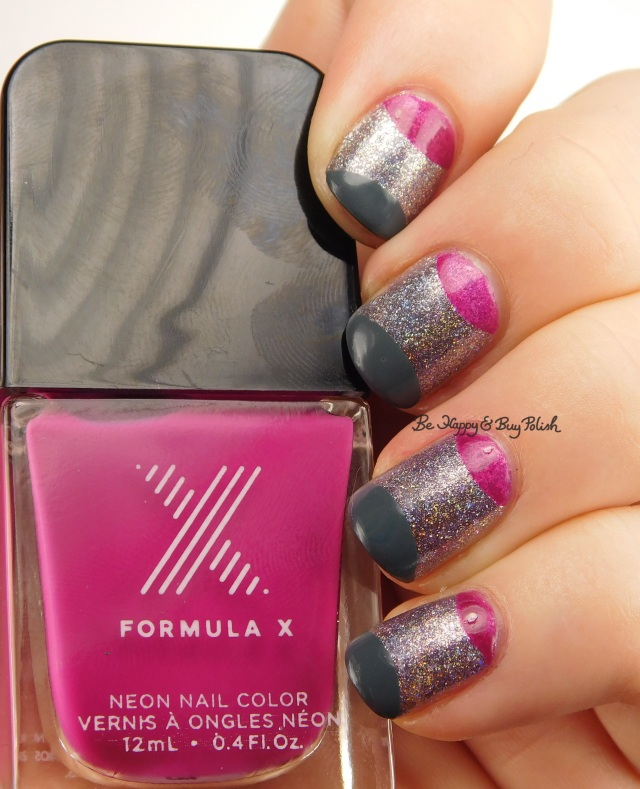 Formula X Phenomena, Aphrodite, Massive half moon nail art | Be Happy And Buy Polish