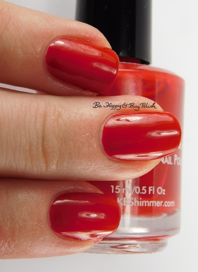 KBShimmer Chilly Pepper 3-finger pose | Be Happy And Buy Polish