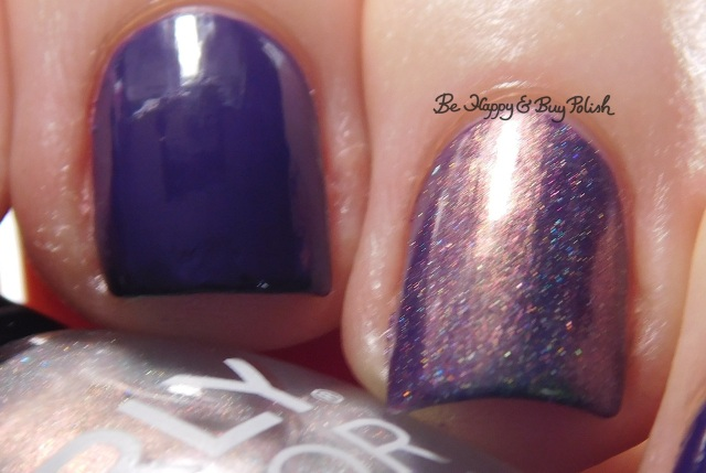 Orly Color Blast Extreme Vanity with Orly Power Hungry color shift | Be Happy And Buy Polish