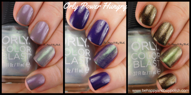 Orly Power Hungry over Sinister Sea Witch, Extreme Vanity, Sleeping Death | Be Happy And Buy Polish