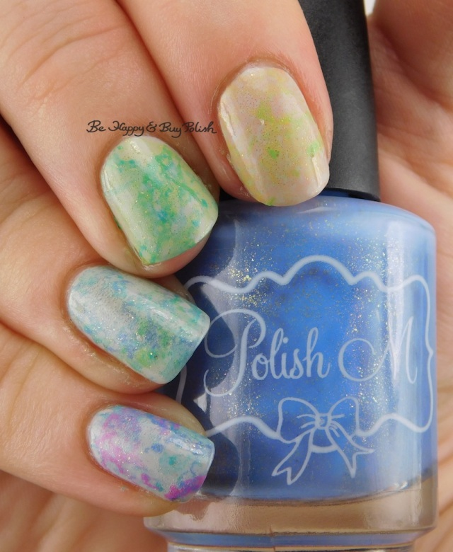 Polish 'M Rest + Relaxation nail polish collection spotted nail art manicure Cinderella hand | Be Happy And Buy Polish