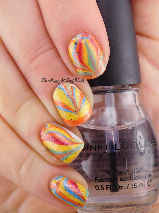 Sinful Colors Pride collection watermarble, Baroness X Sir Cockicorn, Pahlish What a Terrible World | Be Happy And Buy Polish