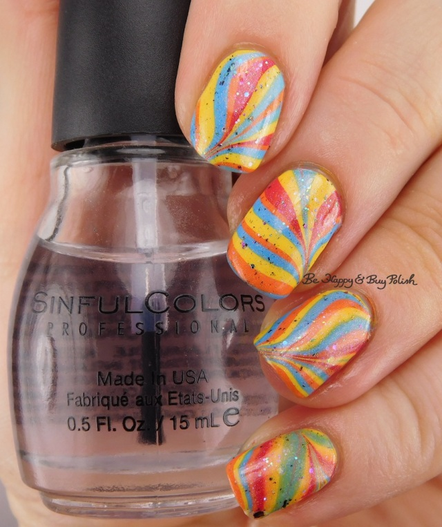 Sinful Colors Pride collection watermarble, Pahlish What a Terrible World, Baroness X Sir Cockicorn   Be Happy And Buy Polish