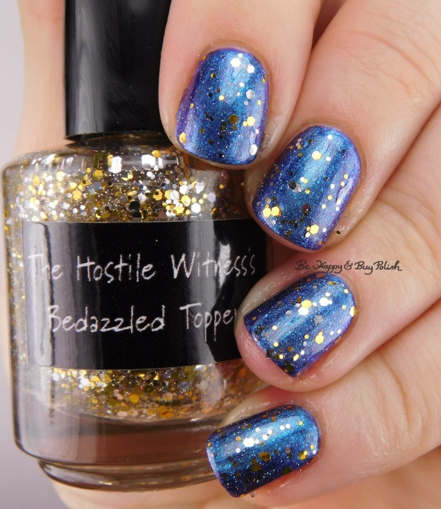 CrowsToes Nail Color The Hostile Witness Bedazzled Topper, Always, The Hostile Witness | Be Happy And Buy Polish