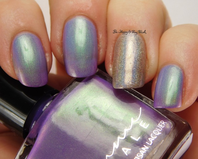 Femme Fatale Cosmetics Glass Coffin cold state + Indigo Bananas Call Me Mabel Oops | Be Happy And Buy Polish
