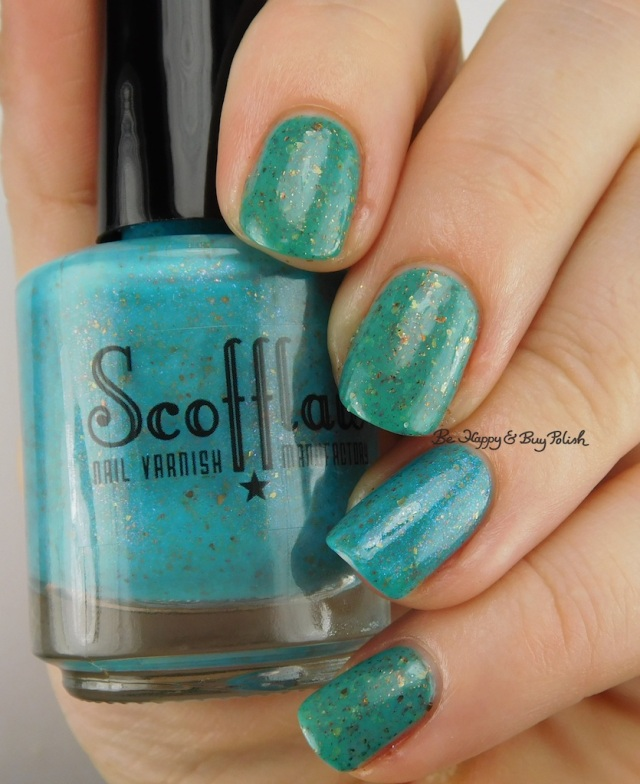 ellagee Burnished Skies compared to Scofflaw Nail Varnish Diamond Dogs | Be Happy And Buy Polish