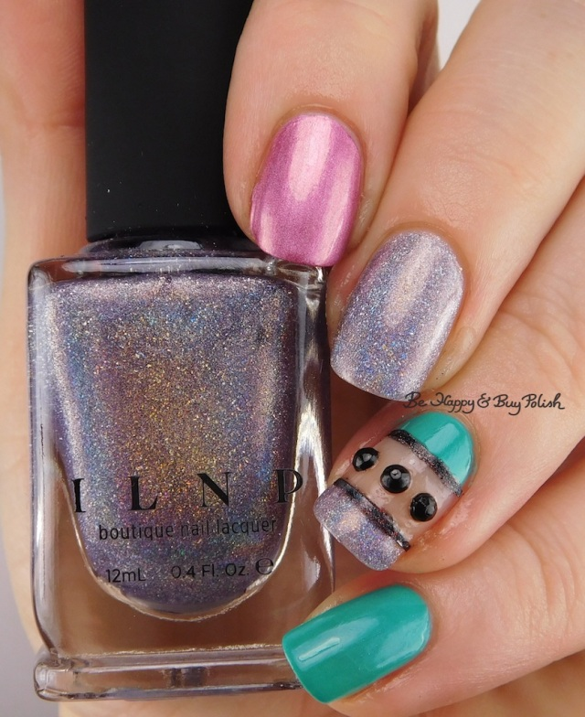 Formula X Voodoo, ILNP Home Sweet Home, Daisy Island Oasis nail art | Be Happy And Buy Polish