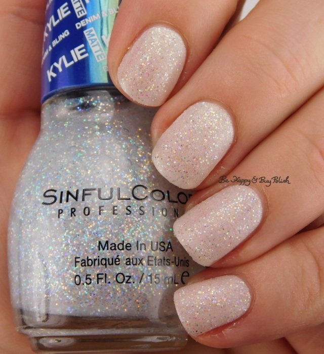 Sinful Colors Konfection over Angelik Kylie Denim + Bling | Be Happy And Buy Polish