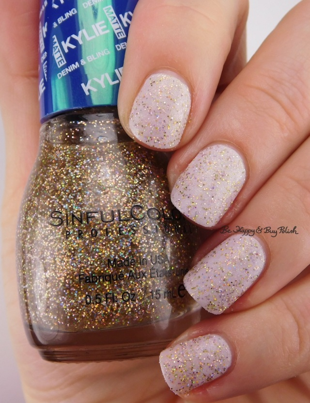 SinfulColors Karats of Kargo over North Star Kylie Denim + Bling | Be Happy And Buy Polish