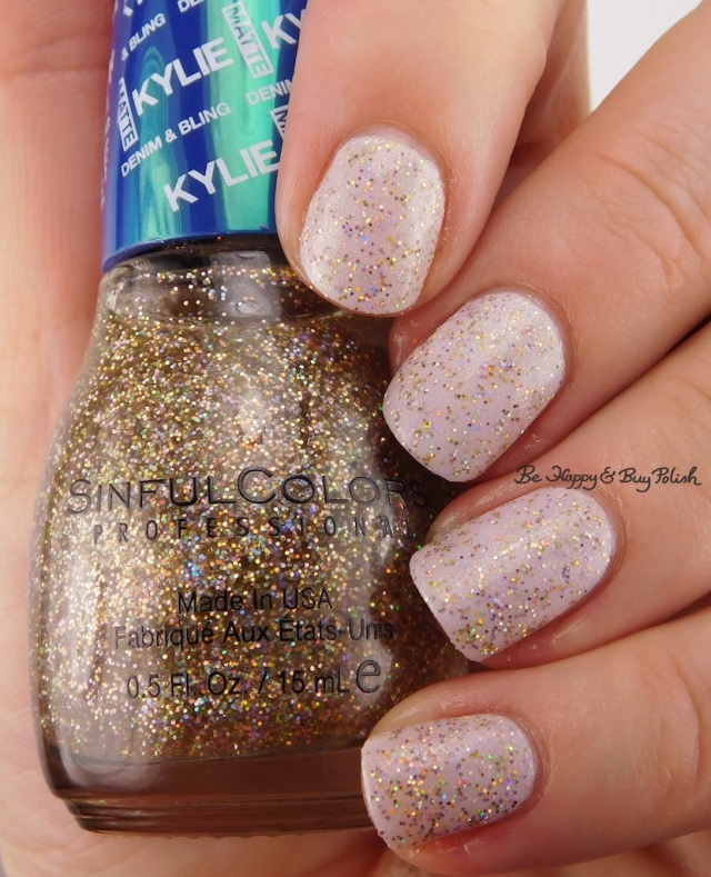 SinfulColors Karats of Kargo over North Star with top coat Kylie Denim + Bling | Be Happy And Buy Polish