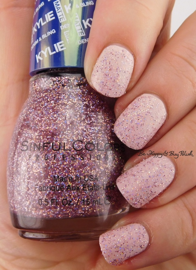 SinfulColors Kosmic over Kitty Pink Kylie Denim + Bling | Be Happy And Buy Polish