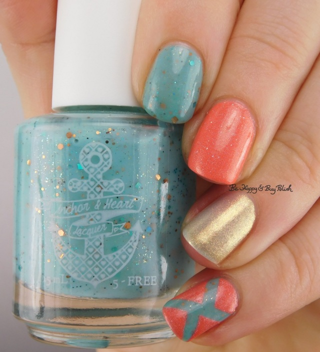 Anchor & Heart A Happy Accident 2.0, Anonymous Lacquer 701 Fahrenhuit, le polish Morning Frost | Be Happy And Buy Polish
