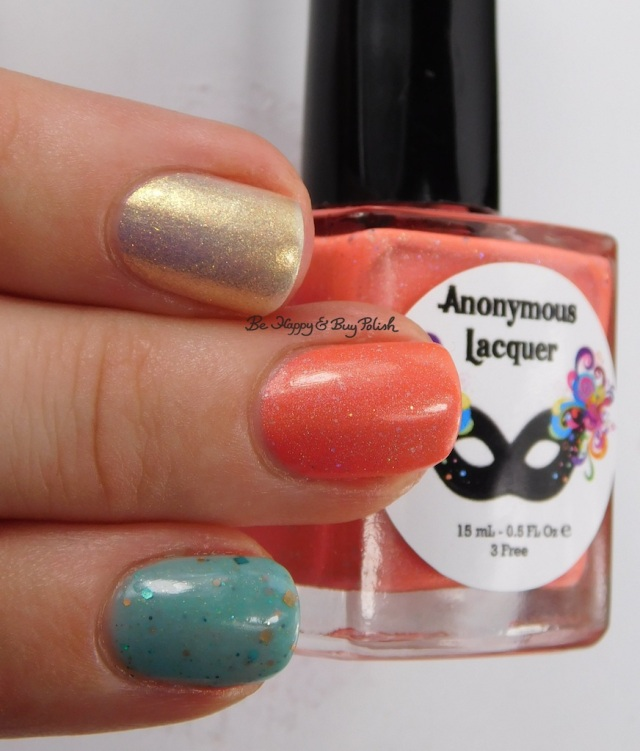 Anonymous Lacquer 701 Fahrenhuit, le polish Morning Frost, Anchor & Heart A Happy Accident 2.0 | Be Happy And Buy Polish
