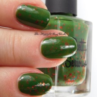 Pretty Serious Cosmetics Toxic Tiara, Viscous Vampire, Gruesome Groom swatch + review