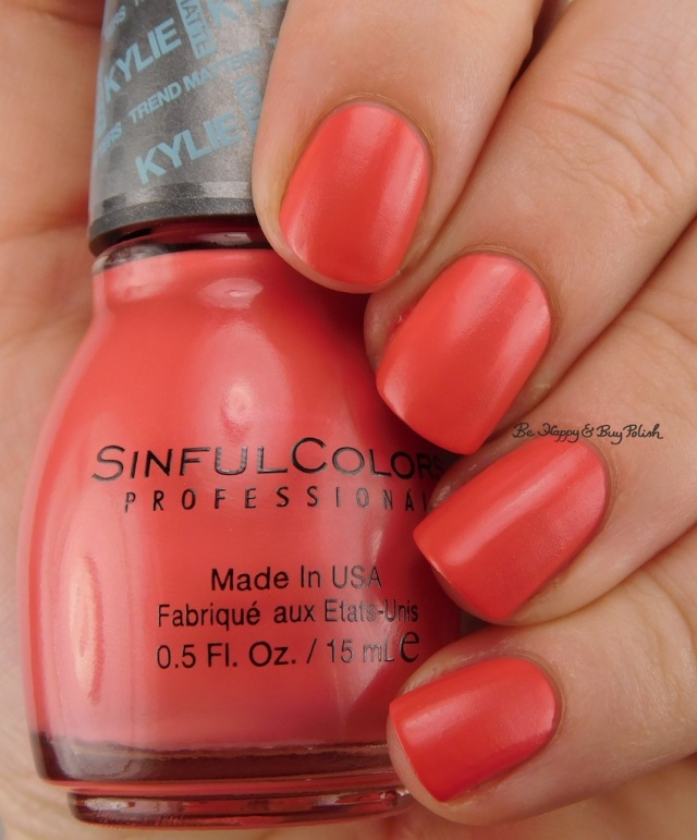 SinfulColors Koral Riff Kylie Trend Matters Satin | Be Happy And Buy Polish