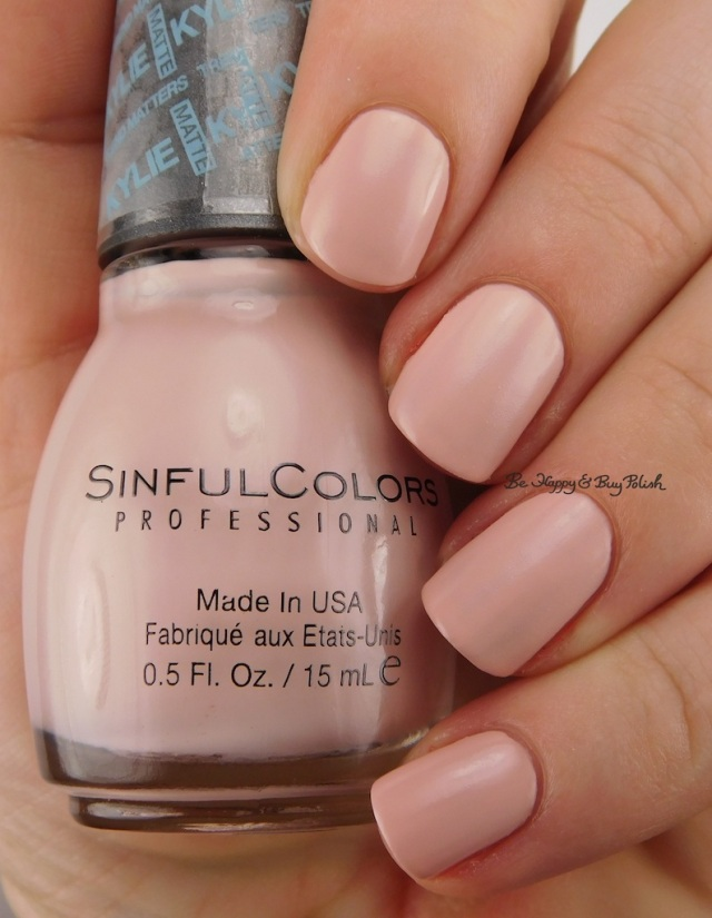 SinfulColors Taupe is Chic Kylie Trend Matters Satin | Be Happy And Buy Polish