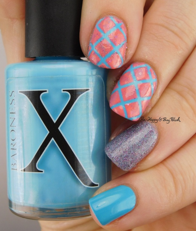 Baroness X Topanga Teal, Girly Bits Fragments, Fancy Gloss Glowing Icicles   Be Happy And Buy Polish