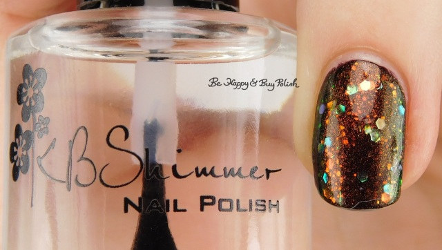 KBShimmer Clearly On Top left hand | Be Happy And Buy Polish