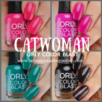 Catwoman Orly Color Blast nail polish set swatches + review