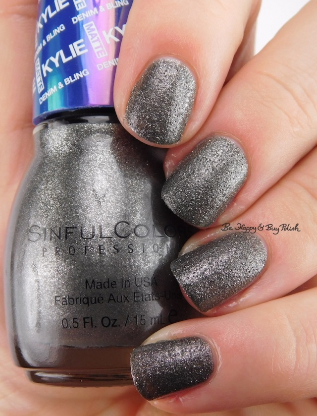 Sinful Colors After Dark Kylie Denim + Bling | Be Happy And Buy Polish