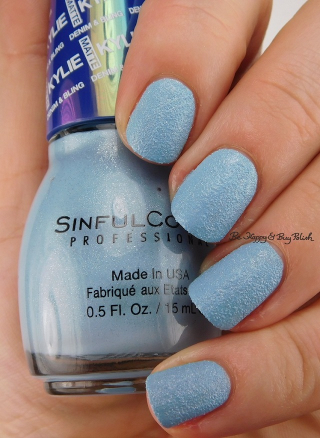 SinfulColors Acid Wash Kylie Denim + Bling | Be Happy And Buy Polish