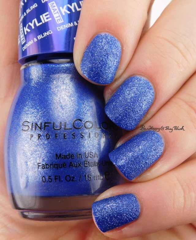 SinfulColors Kobalt Kylie Denim + Bling | Be Happy And Buy Polish