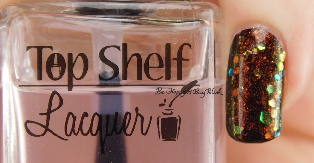 Top Shelf Lacquer quick dry top coat left hand | Be Happy And Buy Polish