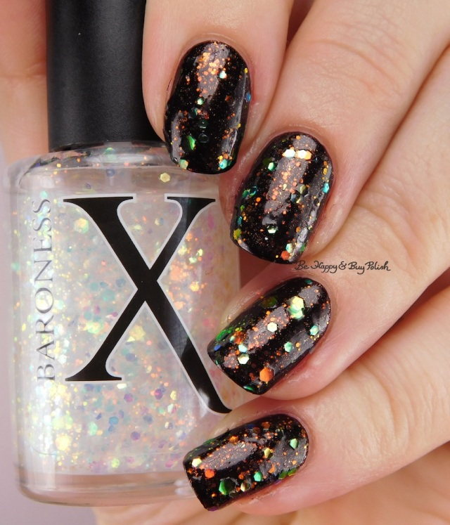 Baroness X Opulent Oddity over China Glaze Midtown Magic | Be Happy And Buy Polish
