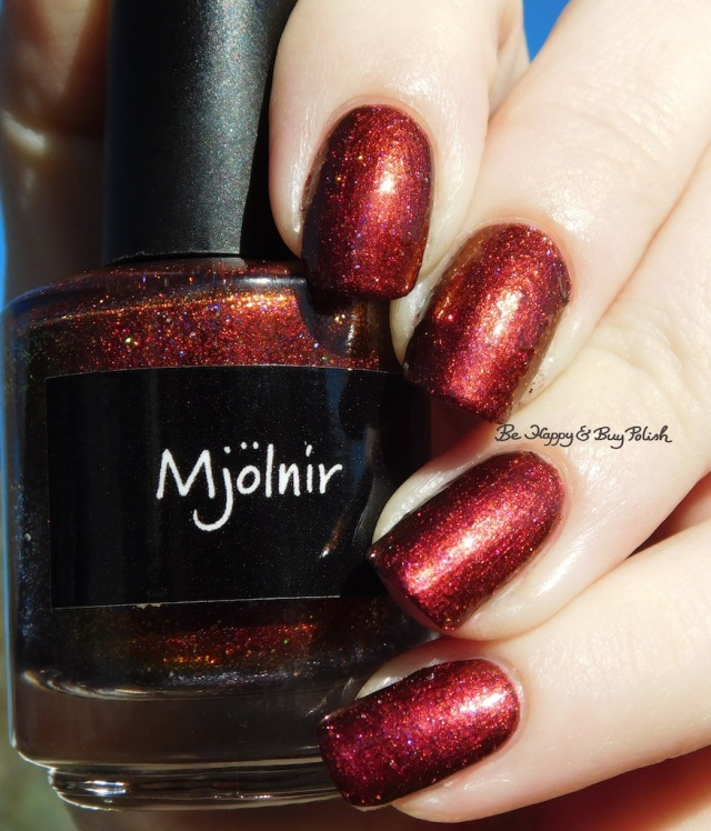 CrowsToes Nail Color Mjolnir holographic | Be Happy And Buy Polish