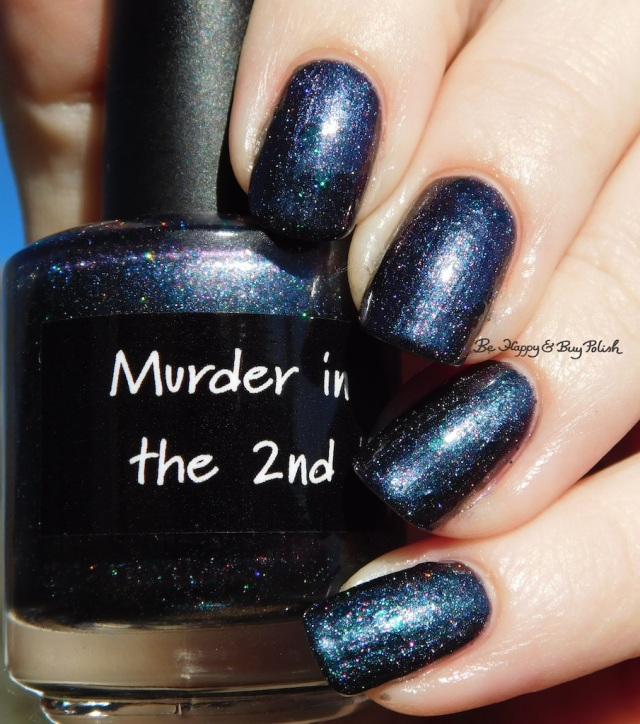 CrowsToes Nail Color Murder in the 2nd holographic | Be Happy And Buy Polish
