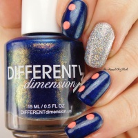 Pick Three Polishes: Different Dimension Bad Buoy, KBShimmer Alloy Matey, China Glaze Thistle Do Nicely nail art