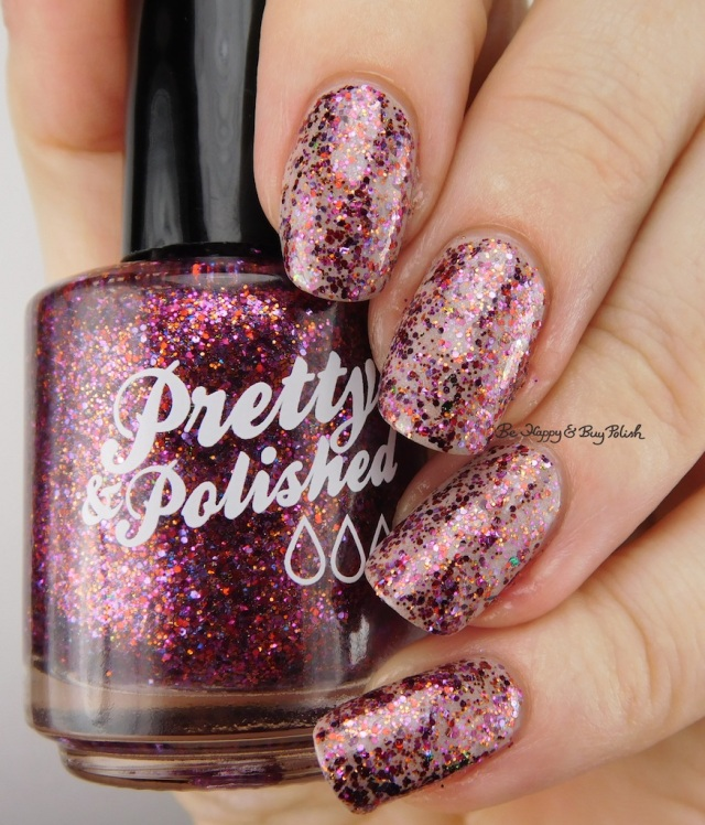 Pretty & Polished Throw Some Glitter On It! over Creme de la Creme | Be Happy And Buy Polish